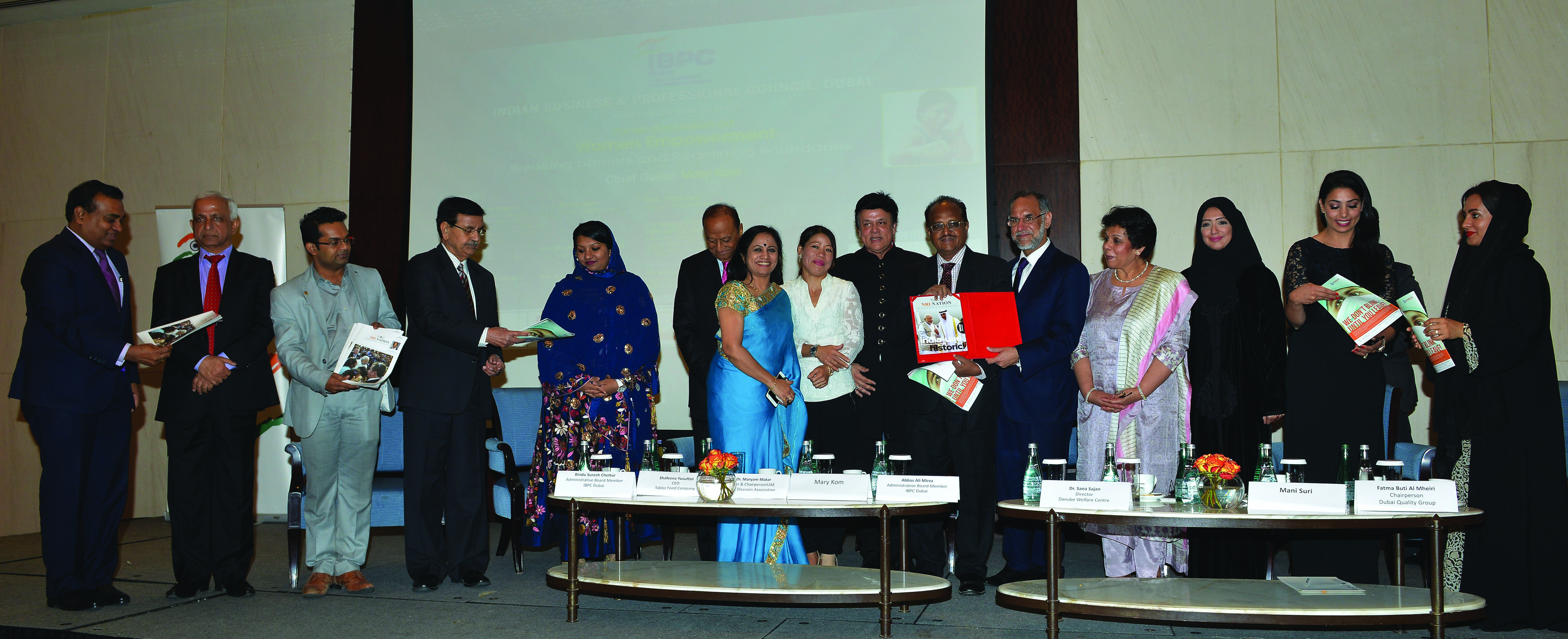 OLYMPIC MEDALIST MARY KOM ATTENDS IBPC'S WOMEN EMPOWERMENT DISCUSSION IN DUBAI