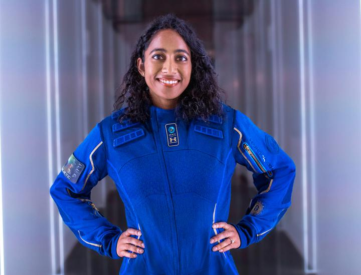 Sirisha Bandla, Vice President of Government Affairs and Research Operations at Virgin Galactic. Bandla will be evaluating the human-tended research experience, using an experiment from the University of Florida that requires several handheld fixation tubes that will be activated at various points in the flight profile.