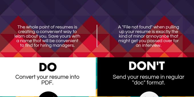 Do's and don'ts of sales resumes, part 4 [Infographic]