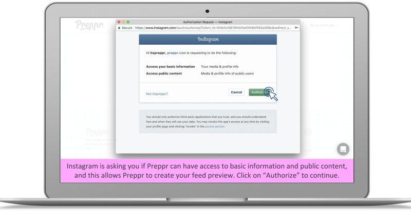 Authorize Preppr