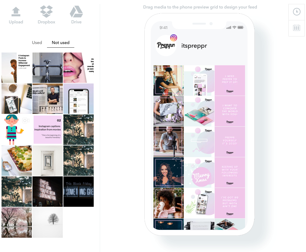 Instagram Feed Preview - Preppr