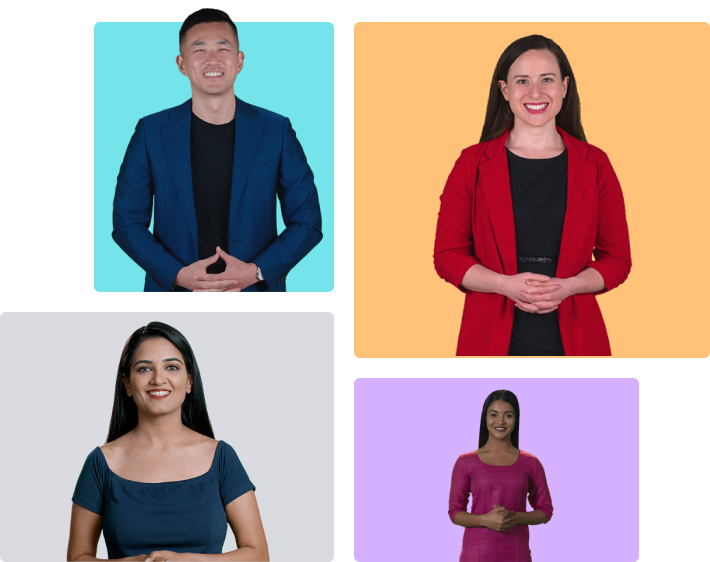 Custom video backgrounds without green screen   Rephrase.ai