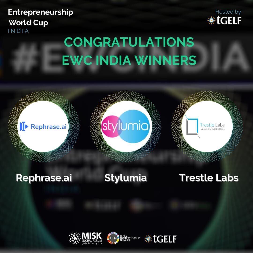 Rephrase.ai is Entrepreneurship World Cup (EWC) India Winner!