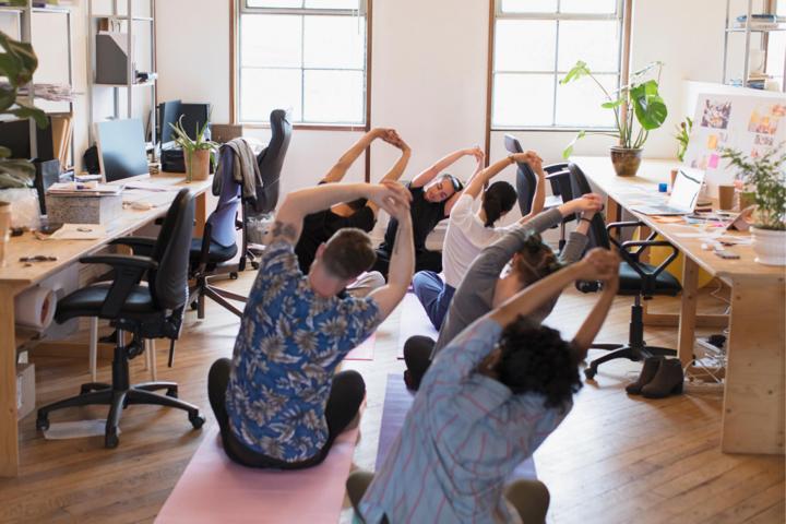 Awkward Office Yoga Team Building Activity