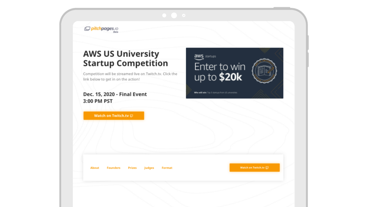 AWS Event Page
