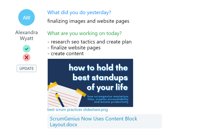 Content Block Layout Team Activity