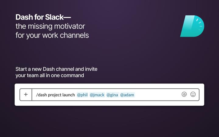 Dash for Slack (remote teams)
