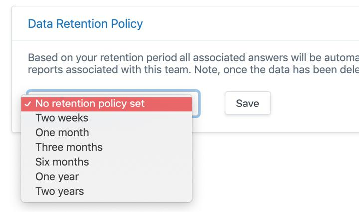 ScrumGenius set custom data retention policy