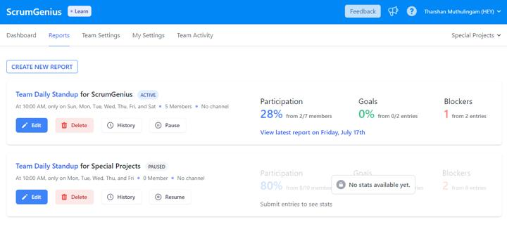 July Product Updates -- Team Roles