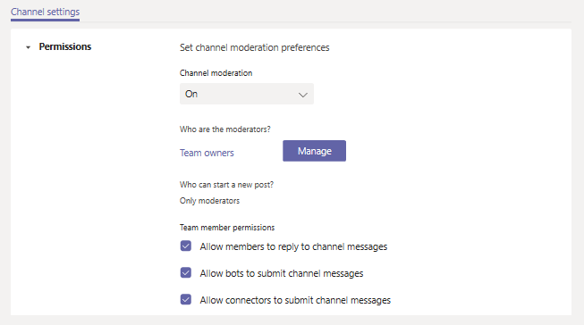 Microsoft Teams Updates (July - September) -- team moderation