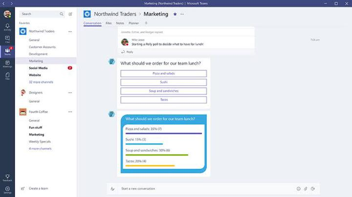 Microsoft Teams Apps List for HR Team Productivity - Polly