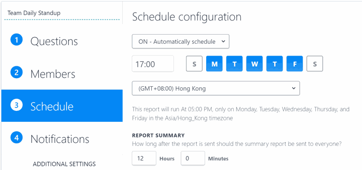 How to Configure ScrumGenius for Multiple Timezones -- scrumgenius scenario 2 setup