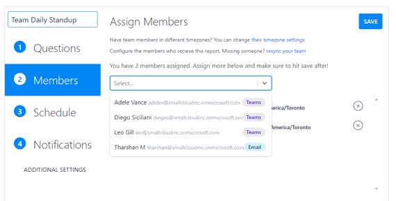Customize your team members across multiple platforms.