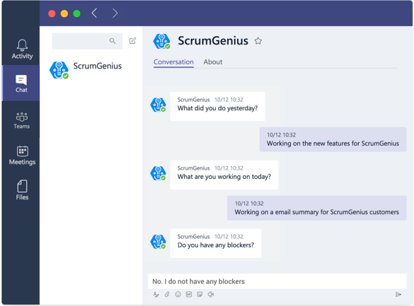 Microsoft Teams chat