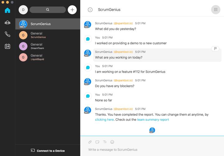 Cisco Webex Teams Hacks: ScrumGenius