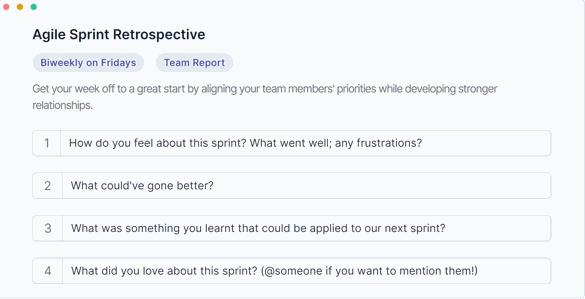 ScrumGenius Sprint Retrospective