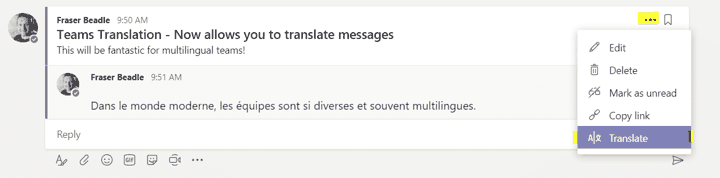 Microsoft Teams Tips and Tricks - Inline Message Translation