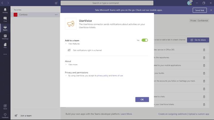 UserVoice for Microsoft Teams