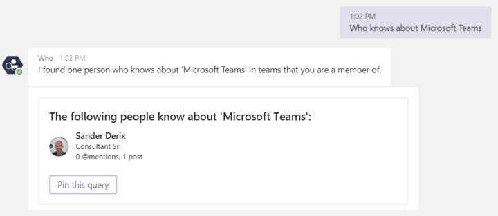 Microsoft Teams Tips and Tricks - the Who Bot