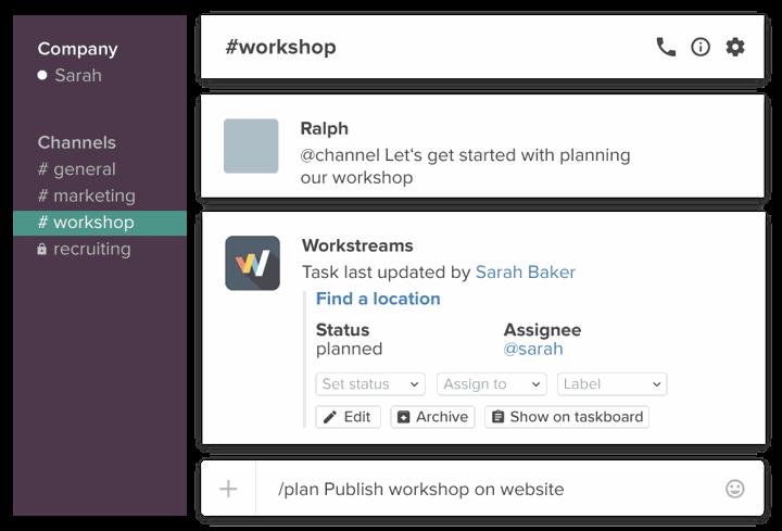 Workstreams for Slack (remote teams)