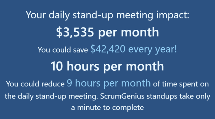 how much time and money are you wasting in standups -- calculator