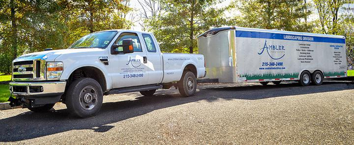 Ambler Industries Landscaping Truck and Trailer