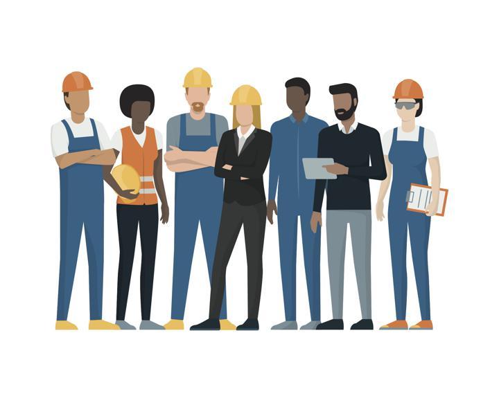 blue-collar employees