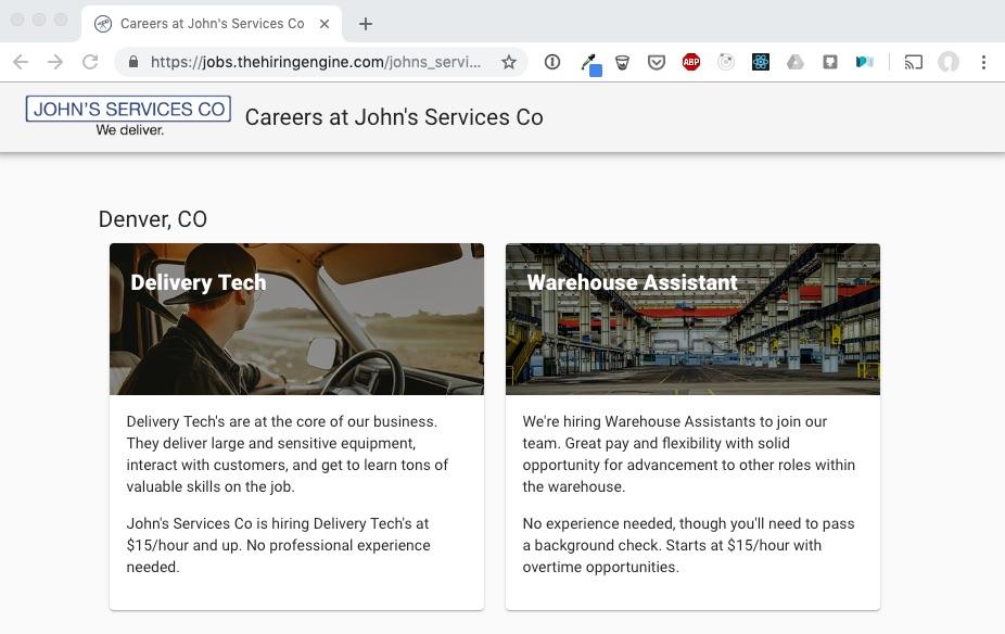 Custom job site