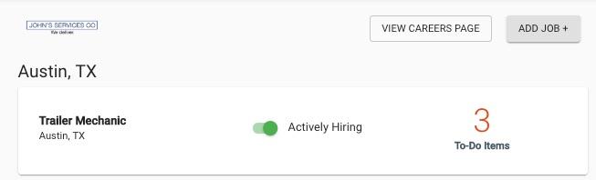 Toggle job listings