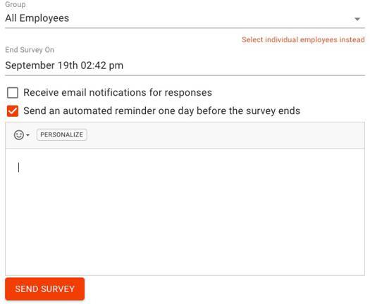 Create a Text Employee Survey