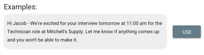 Employer SMS