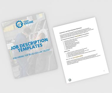Blue-collar and Skilled Trades Job Description Templates