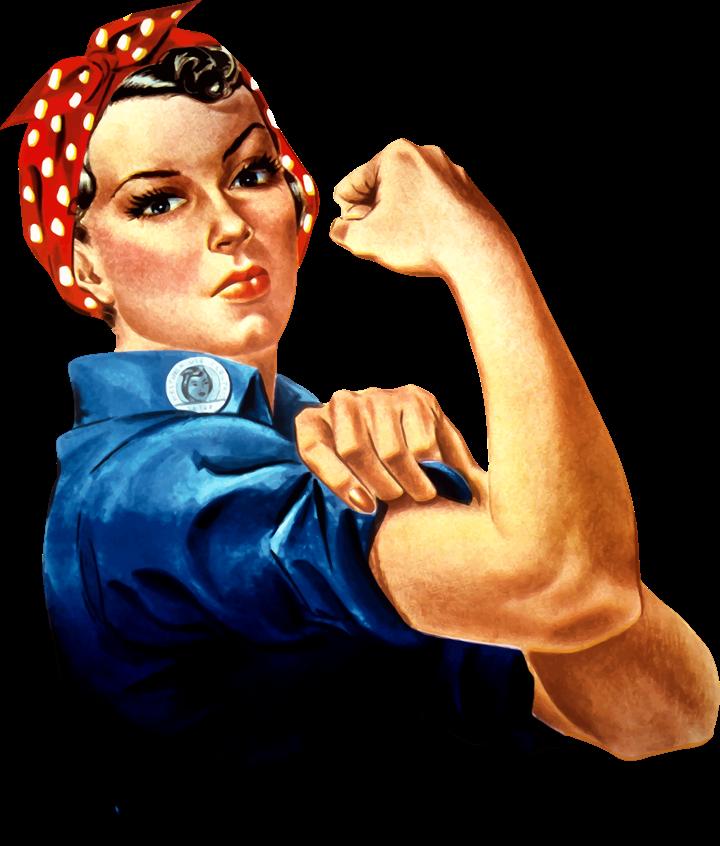 Blue-Collar Female Rosie The Riveter