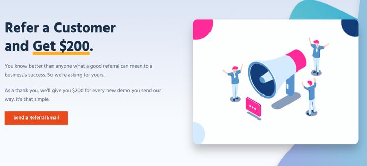 Customer Referrals for Team Engine