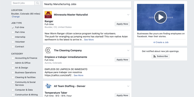 New! Automatic Postings to Facebook Jobs