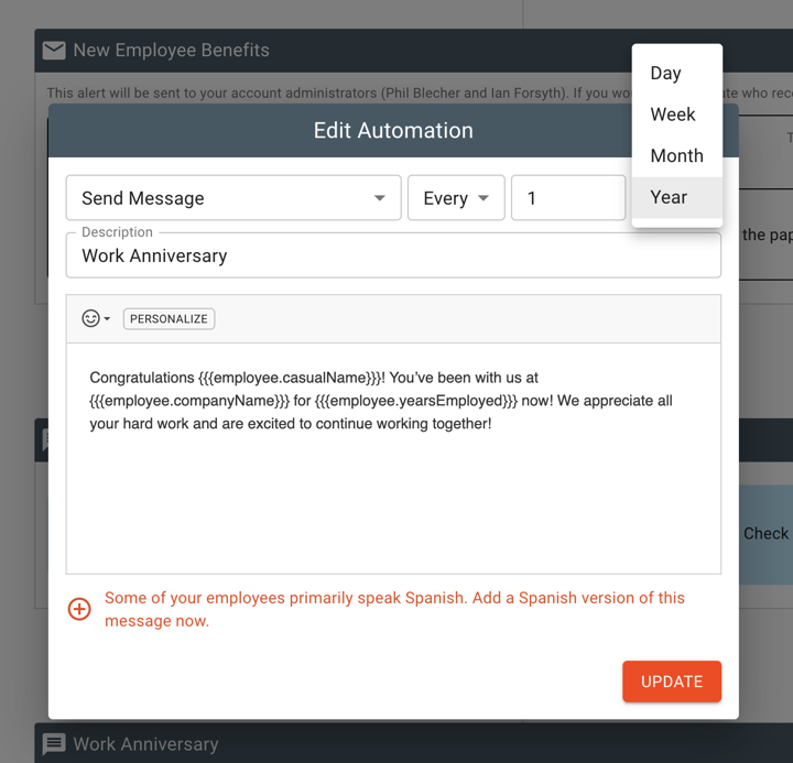 recurring employee automations