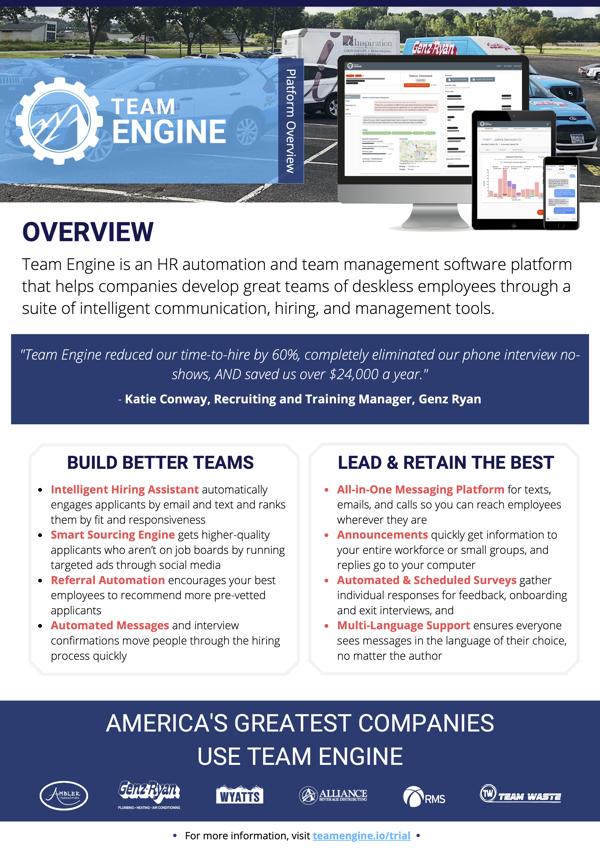 Team Engine flyer