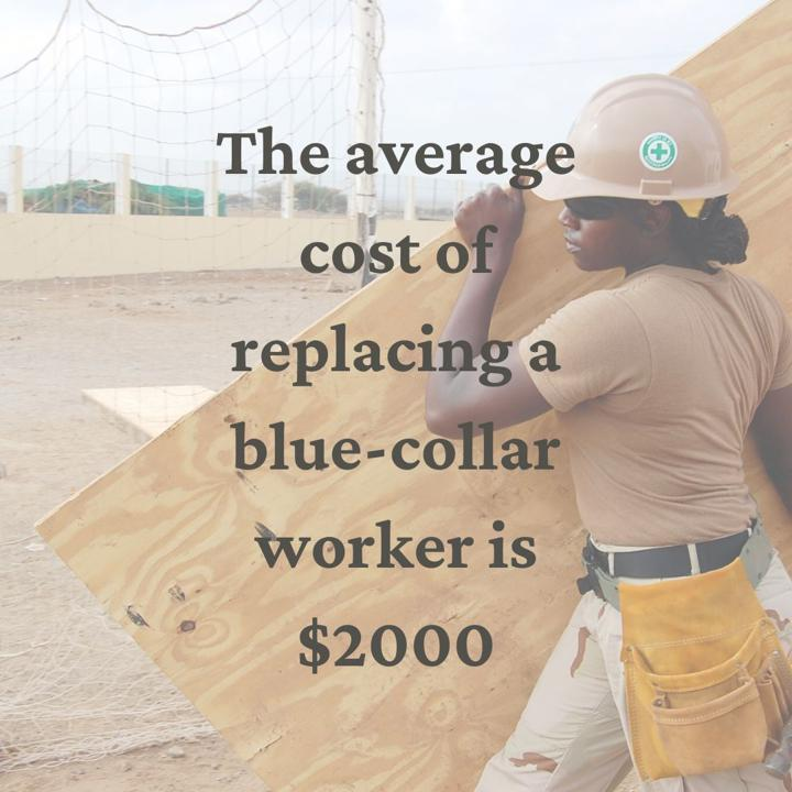 average cost of replacing a blue-collar worker