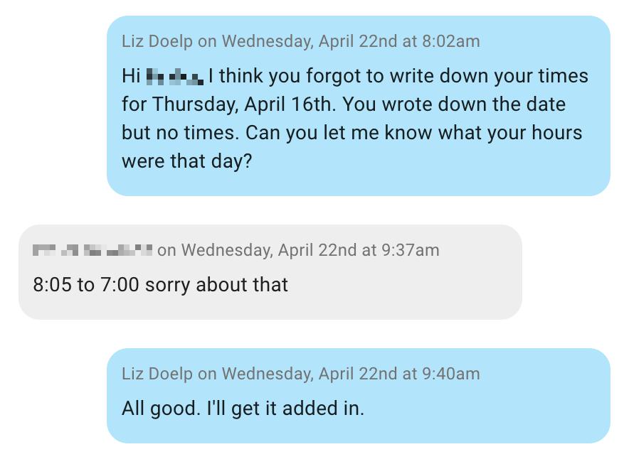 employee text messaging