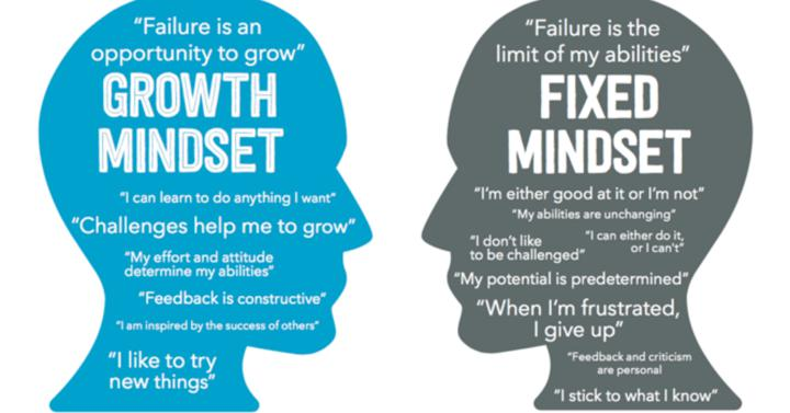fixed vs growth mindset thoughts