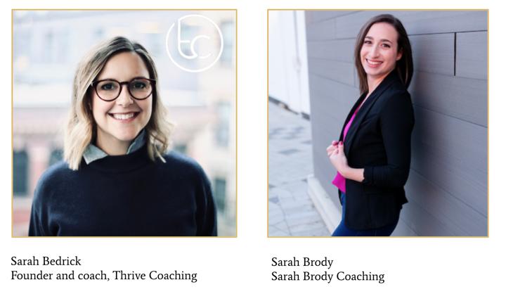 Sarah Bedrick Sarah Brody coaches