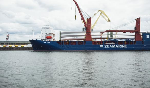 International freight ship