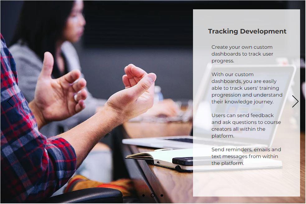 Tracking learning development