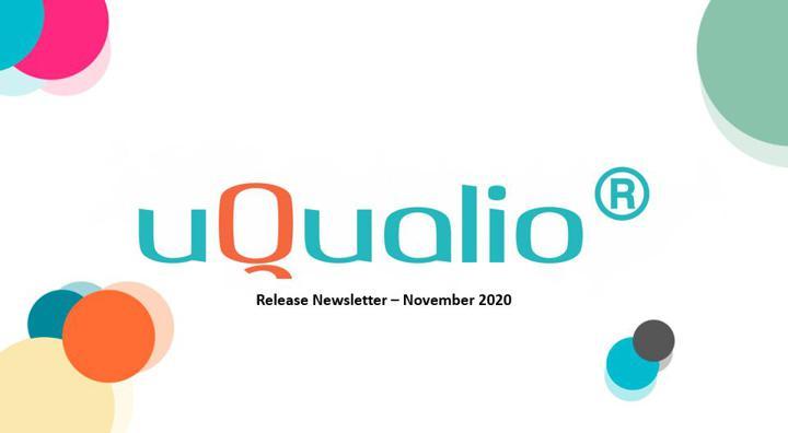 uQualio Release Newsletter Nov 2020
