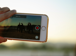 Iphone recording video outdoors
