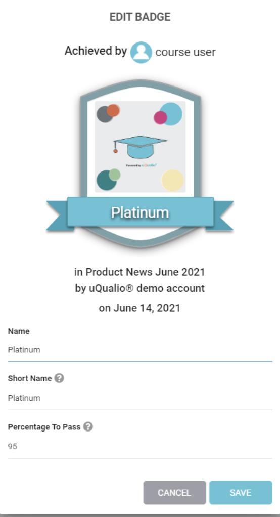 Screenshot of platinum certificate badge.