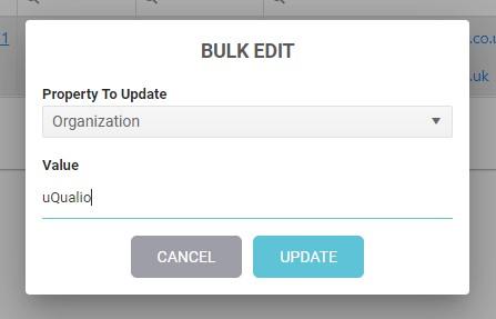 Bulk edit dropdown