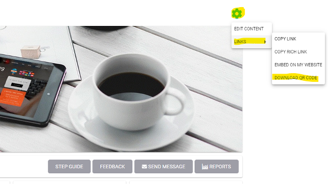Picture of coffeeQR codes for courses and channels update