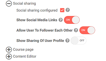 Social sharing and gamification options in uQualio software