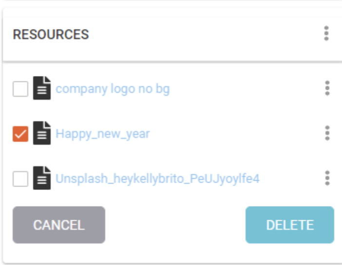 Screenshot of resources